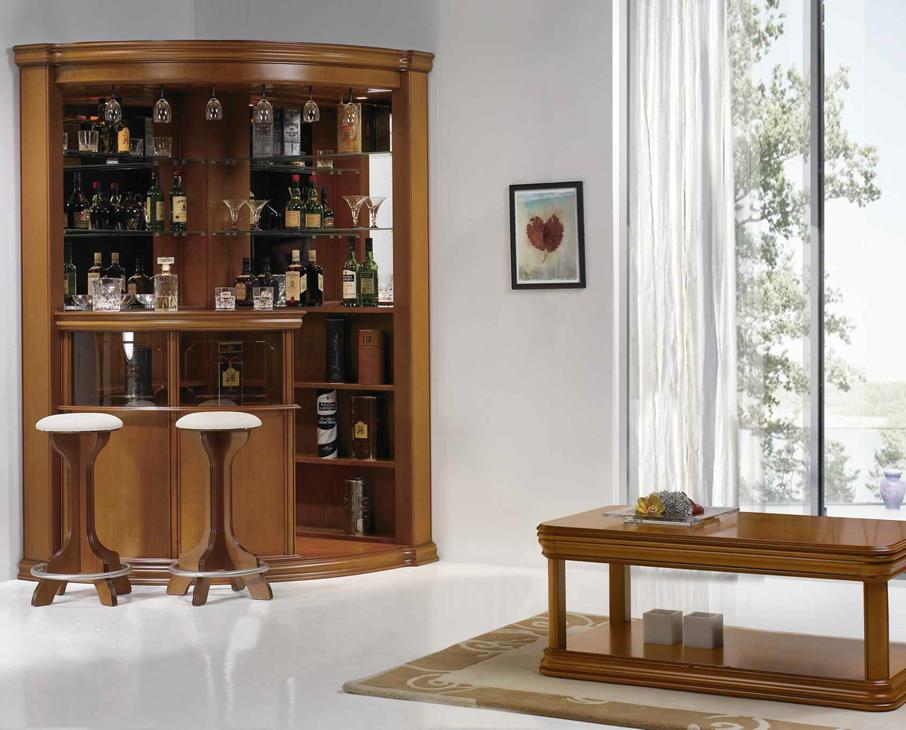 Bar canto parede vip ref.440 / mesa centro vip recta c/ gaveta ref.412 / banco lux ref.252